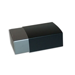 4 Truffle Candy Boxes in Pewter with Black Sleeves