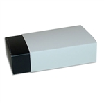 6 Truffle Candy Boxes in Black with White Sleeves