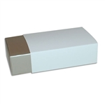 6 Truffle Candy Boxes in Champagne with White Sleeves