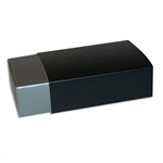 6 Truffle Candy Boxes in Silver with Black Sleeves