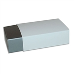 6 Truffle Candy Boxes in Silver with White Sleeves