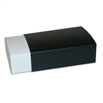 6 Truffle Candy Boxes in White with Black Sleeves