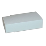 6 Truffle Candy Boxes in White with White Sleeves
