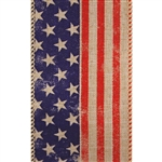 Patriot Glory Bee Ribbon on Kraft Jute Wired