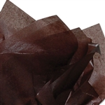 "Chocolate Brown 2 Sided Waxed Tissue Paper - 24"" x 36"" Pink"