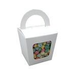 Small Basket Candy Tote Box - White
