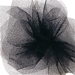 "Black Tulle Ribbon in 6"" or 24"""