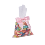 "Flat 5-1/4"" x 8-1/4 Clear polypropylene candy bags"