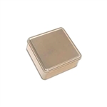 "6"" Square Gold Tin Boxes"