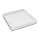 16 oz. Square White Chocolate Box Bases