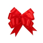 Red Single Face Satin Bow Magic Butterfly Bows
