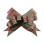Tartan Red/Green Bow Magic Butterfly Bows