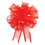 Red Sheer Pom Pom Pull Bows Bow Magic