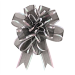 Black Sheer Pom Pom Pull Bows Bow Magic