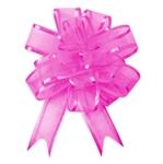 Fuchsia Sheer Pom Pom Pull Bows Bow Magic