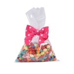 "Flat 6"" x 9"" Clear polypropylene candy bags"