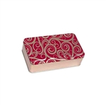 "4"" x 7"" Golden Swirls Tin Boxes"