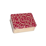 "6"" x 8"" Golden Swirls Tin Boxes"