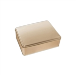 "6"" x 8"" Gold Tin Boxes"