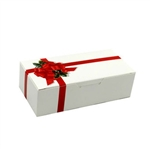 1 lb. Ribbon N' Holly Rectangle-Fudge Boxes