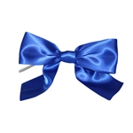 Pre-Tied Satin Twist Tie Bows - Royal Blue 1-1/2""