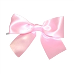 Pre-Tied Satin Twist Tie Bows - Light Pink 1-1/2""