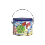 Half Gallon Popcorn Tin Pail - Beach Time