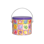 Half Gallon Popcorn Tin Pail - Bright Eggs