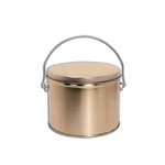 Half Gallon Popcorn Tin Pail - Gold