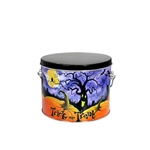 Half Gallon Popcorn Tin Pail - Halloween Patch