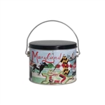 Half Gallon Popcorn Tin Pail - Maryland