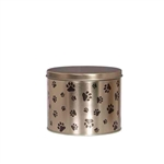 Half Gallon Popcorn Tin Pail - Paw Prints