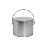 Half Gallon Popcorn Tin Pail - Platinum