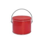 Half Gallon Popcorn Tin Pail - Red