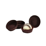 "1-3/4"" x 5/8"" Brown Candy Cups"