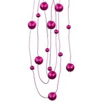 Offray Deco Beads in Fuchsia