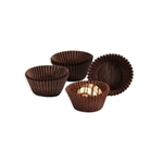 "1-1/4"" x 7/8"" Brown Candy Cups"