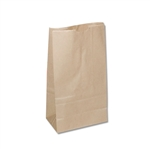 6 lb Kraft Regular Paper Grocery Bags