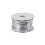 Silver Metallic Stretch Cord