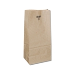 8 lb Kraft Regular Paper Grocery Bags