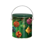 One Gallon Popcorn Tin Pail - Beautiful Ornaments