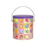 One Gallon Popcorn Tin Pail - Bright Eggs