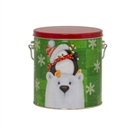 One Gallon Popcorn Tin Pail - Cold But Cozy