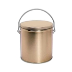 One Gallon Popcorn Tin Pail - Gold