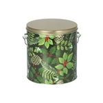 One Gallon Popcorn Tin Pail - Golden Pinecones
