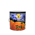 One Gallon Popcorn Tin Pail - Halloween Patch