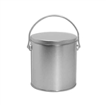 One Gallon Popcorn Tin Pail - Platinum
