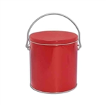 One Gallon Popcorn Tin Pail - Red