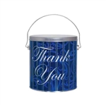 One Gallon Popcorn Tin Pail - Thank You