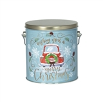 One Gallon Popcorn Tin Pail - Vintage Christmas